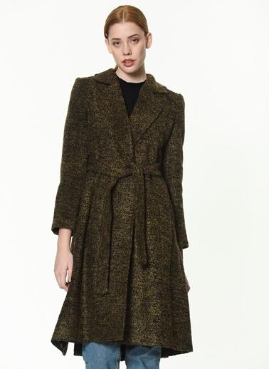Dewberry Uzun Yün Palto Siyah